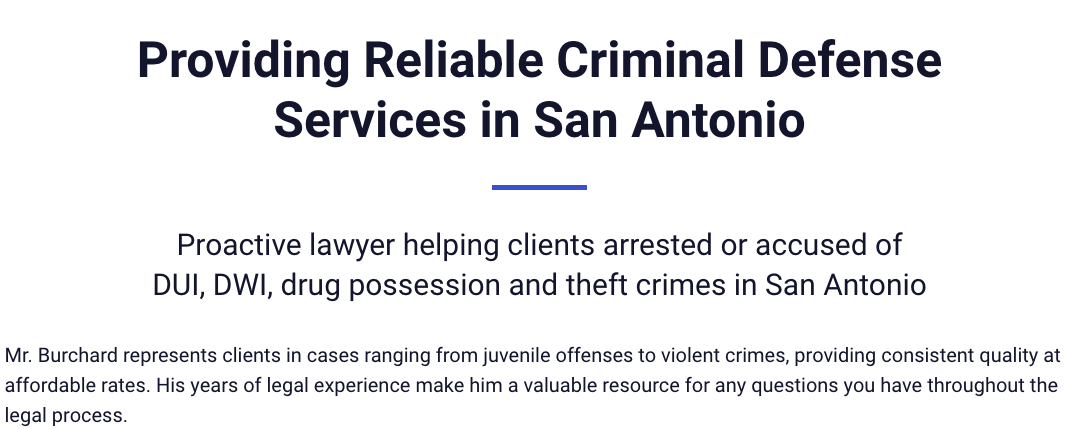 Providing Reliable Criminal Defense Services in San Antonio